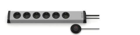 Universal Steckdosenleiste 6-fach mit externem Taster