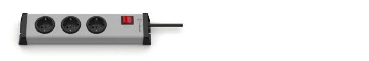 Universal Steckdosenleiste 3-fach mit Schalter
