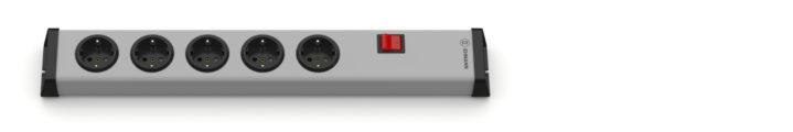 Universal Steckdosenleiste 5-fach ohne Zuleitung mit Schalter