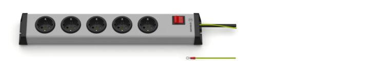 Universal Steckdosenleiste 5-fach mit externem Schutzleiter