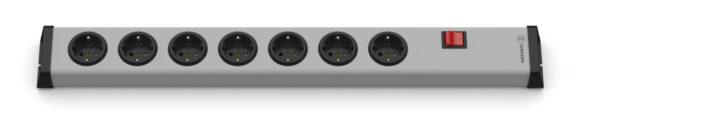 Universal Steckdosenleiste 7-fach ohne Zuleitung mit Schalter
