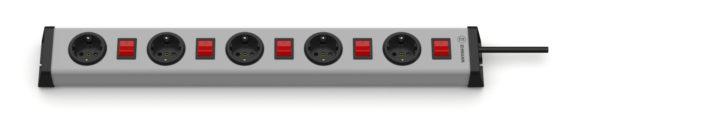 Universal Steckdosenleiste 5-fach mit 5 Schaltern