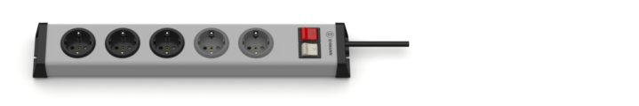 Universal Steckdosenleiste 3+2-fach mit 2 Schaltern