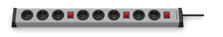 Universal Steckdosenleiste 3+3+2-fach mit 3 Schaltern