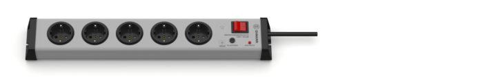 Überspannungsschutz Steckdosenleiste 5-fach mit Schalter