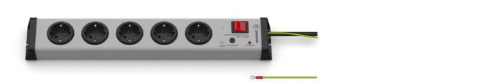 Überspannungsschutz Steckdosenleiste 5-fach mit externem Schutzleiter
