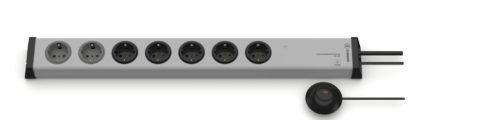 Überspannungsschutz Steckdosenleiste 5+2-fach mit externem Taster