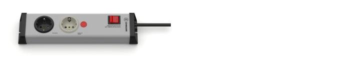 Energieverteiler Steckdosenleiste 2-fach mit Überlastschutz