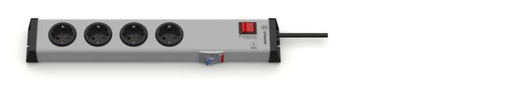 FI / Personenschutz 10mA Steckdosenleiste 4-fach mit Schalter