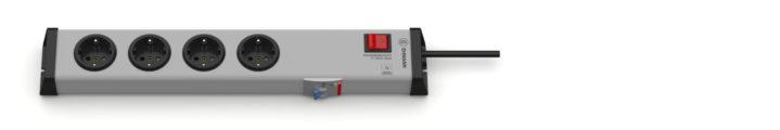 FI / Personenschutz 30mA Steckdosenleiste 4-fach mit Schalter