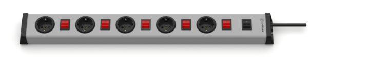 Universal Steckdosenleiste 5-fach mit 6 Schaltern