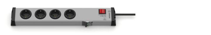 FI/LS Personenschutz Steckdosenleiste 4-fach mit Schalter