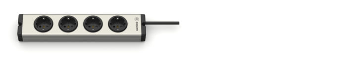 Universal Aluminium Steckdosenleiste 4-fach