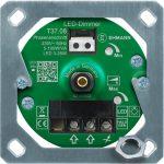 Elektronischer LED Unterputz-Dimmer T37.08.1 mit Befestigungsrahmen
