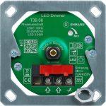 LED Unterputz-Dimmer T39.08.1 mit Befestigungsrahmen