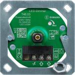 LED Unterputz-Dimmer T46.03.1 mit Befestigungsrahmen