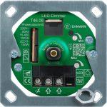 LED Unterputz-Dimmer T46.08.1 mit Befestigungsrahmen