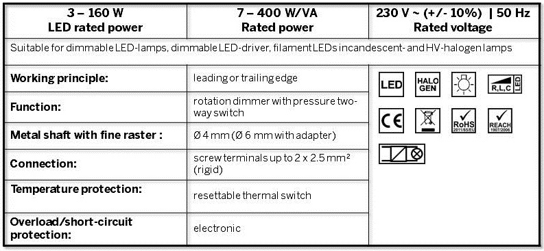 The new universal LED dimmer from EHMANN | Ehmann