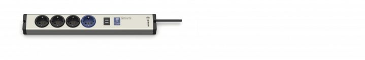 Aluminium Master-Slave PRO Steckdosenleiste 4-fach + USB