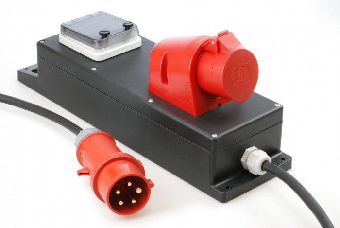 Steckdosenleiste für die Baustelle 400V