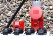 Mobiler Kunststoff-Verteiler mit Gestell